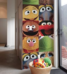 Muppet decals - for a play room/kid's room/nursery!?! Would be great in Sesame Street too!