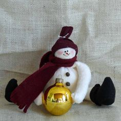 Snow Time Fun Snowman Decoration by SnowmanCollector on Etsy, $13.50