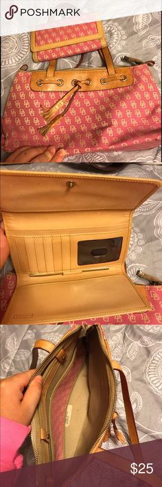 Dooney And Burke Purse and wallet Both in good condition. Purse has some wear on the inside. Dooney & Bourke Bags Shoulder Bags