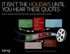Love watching the same classics every year? Find your favorite holiday movies on Bing:   http://binged.it/ZgU9HK