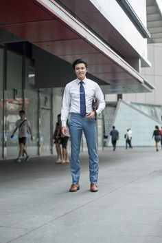 SHENTONISTA: Work & Play. Xuan Kai, Sales. Shirt tailored, Pouch from Dunhill, Watch is vintage, Shoes from Joseph Cheaney & Sons #theuniformsg #singapore #fashion #streetstyle #style #ootd #sgootd #ootdsg #wiwt #popular #people #male #menswear #sgstyle #minimal #Dunhill #JosephCheaneySons
