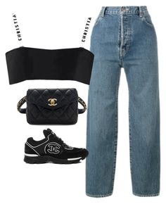 """""""Untitled #1548"""" by deamntr ❤ liked on Polyvore featuring Levi's and Chanel"""