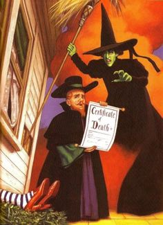 *THE CORONER & THE WICKED WITCH of the WEST ~ The Wizard of Oz, 1939