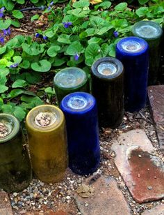 Wine bottle border. - Click image to find more Gardening Pinterest pins