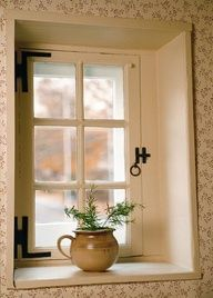 small colonial cottage window, deep sill, perfect bathroom window