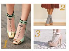 Layer a pair of sheer printed socks under a pump to change up the look of the shoe entirely.