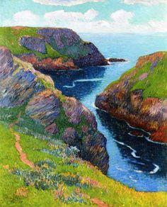 Henry Moret (France 1856-1913) Belle-Île (1898) oil on canvas 74 x 60 cm