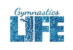 Gymnastics Life Iron On Decal by GirlsLoveGlitter on Etsy