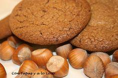 Galletas de Chocolate y Praliné de avellanas #diadelagalleta