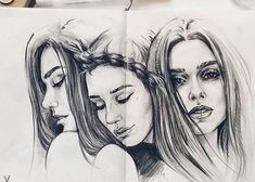 Nesta, Elain, Feyre A Court Of Wings And Ruin, A Court Of Mist And Fury, Fern Tattoo, I Tattoo, Sarah J Maas, Drawing People, People Drawings, Throne Of Glass, Tattoo Designs Men