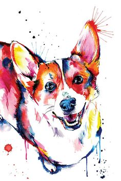 Corgi by Weekday Best is printed with premium inks for brilliant color and then hand-stretched over museum quality stretcher bars. 60-Day Money Back Guarantee AND Free Return Shipping.