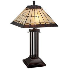 Lite Source Arty Dark Bronze Tiffany Style Table Lamp - #1N859 | Lamps Plus