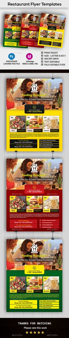 Restaurant Flyer Template Flyers, Photoshop and Flyer template - restaurant flyer