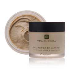 Power breakfast. Best scrub and mask there is. Only need a small bit, use twice monthly, fresh, radiant skin is revealed!