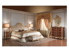 Picture of Art 931 Bed, solid wood bed