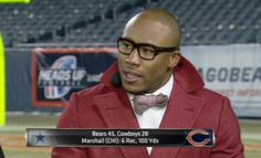In case you missed him on Monday Night Football... We're crushing: on Brandon Marshall http://pigskinnpearls.com/crushing-brandon-marshall/ #NFL #MNF #Bears #BrandonMarshall #Swag