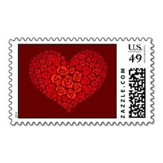 Heart of Roses Postage #valentinesday #valentine #heart #lovepostage #stamp #customizablestamps #customstamps #heartofroses #theperfectvalentineproducts #valentineproducts #giftsforher #lovers
