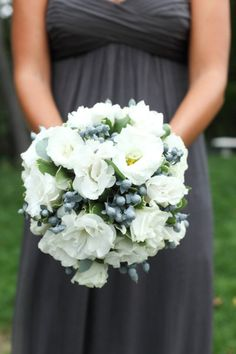 love the blue grey from the berries