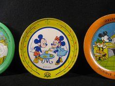 Mickey Mouse tin plates