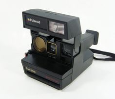 Vintange Black Polaroid Camera