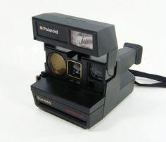 Vintange Black Polaroid Camera