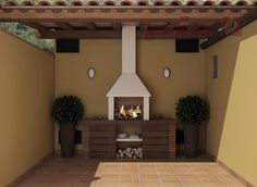 Barbacoas a medida | Chimeneas Pio Barbacoa Jardin, Outdoor Bbq Kitchen, Gazebo, Pergola, Modern Villa Design, O Gas, Bbq Area, Summer Kitchen, Future House
