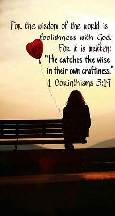1 Corinthians 3:19