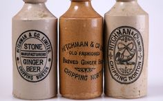 Old ginger beer bottles