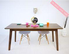 "Modern Dining Table, Dining Table, Kitchen Table, Breakfast Table, Walnut Table ""The Bossa Nova"""