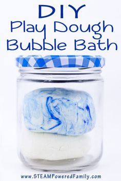 DIY Play Dough Bubble Bath - Easy clean fun! A great way to explore changing states and encouraging water play.