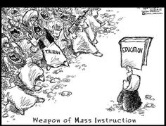 Weapon of mass Instruction (a girl with a book)