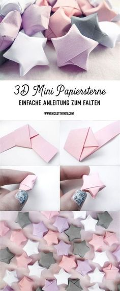 Papiersterne falten 3D Mini einfache Anleitung