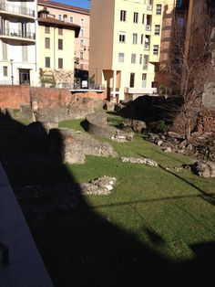 Imperial Palace of Massimiano emperor, Milan Milan, Imperial Palace, Roman Empire, Emperor, Sidewalk, Mansions, House Styles, Beautiful, Italia