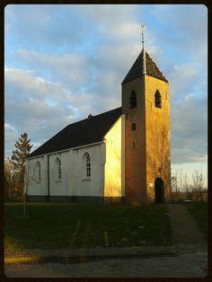 Church in Mensingeweer, Groningen, in the north of Holland