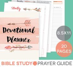 Daily Devotional Printable Set - Bible Study Guide, Letter-Size, Prayer…