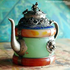 Indian (?) style colorful teapot