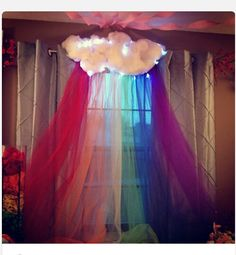 My Litte Pony Party decor I would do without the curtain..
