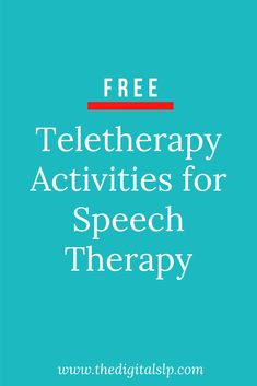 To help you transition into teletherapy or temporary distance learning, I decided to round up some FREE speech therapy activities for SLPs. Save this post as I will keep adding to the list as I find more. Speech Therapy Activities, Speech Language Pathology, Speech And Language, Physical Activities, Speech Room, Therapy Ideas, Health Education, Physical Education, Brain Gym