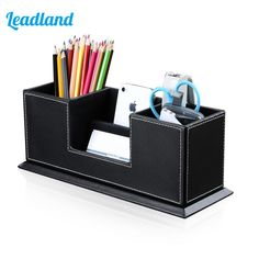 And Great Variety Of Designs And Colors Multifunctional Office Desktop Decor Storage Box Leather Stationery Organizer Pen Pencils Remote Control Mobile Phone Holder Famous For High Quality Raw Materials Full Range Of Specifications And Sizes