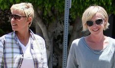 Adore Portia -- but I do like it better longer. DeGeneres and de Rossi in West Hollywood (Splash News)