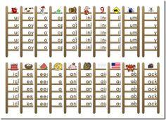 Word family ladders (free printable)