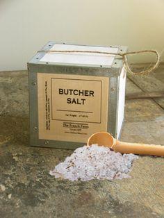 Butcher Salt Box  sea salt with herbs