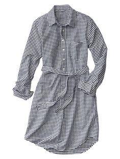 Gingham Oxford shirtdress Product Image