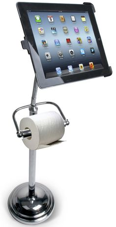 Toilet Paper Holder For Techies: It Doubles As A Bathroom iPad Stand