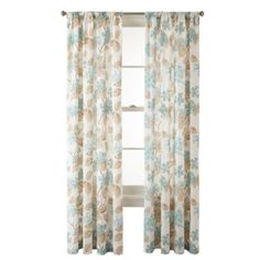 MarthaWindow™ Hydrangea Rod-Pocket Cotton Curtain Panel  found at @JCPenney