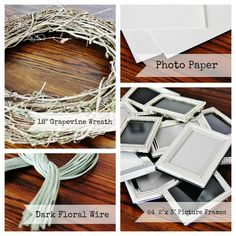 how to make a picture wreath