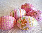 Pink and Yellow Easter Eggs, handmade USA, Kathy's Holiday,