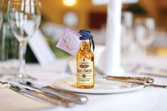 miniature whisky favours