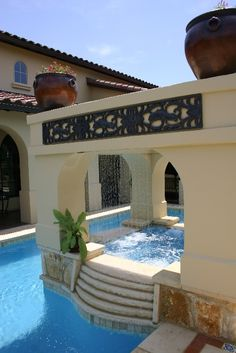 Rainfall Water Feature on pool and spa... My future house lol just sayin
