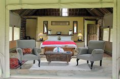 Susie's Camp, Naivasha - East African Retreats Private Safari, Camping Set, Swimming Pools, African, Luxury, Bed, Places, House, Furniture